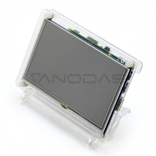 Waveshare Varžinis Lietimui Jautrus Ekranas Raspberry Pi 2/B+ mikrokompiuteriui - LCD TFT 5