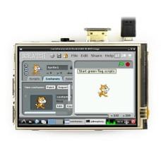 Waveshare Varžinis lietimui jautrus ekranas Raspberry Pi mikrokompiuteriui - LCD IPS 3.5