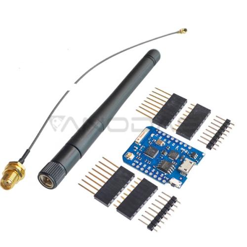 WeMos D1 Mini Pro WIFI valdiklis su antena