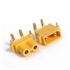 DC supply XT30 male PIN:2 on PCBs THT Colour yellow