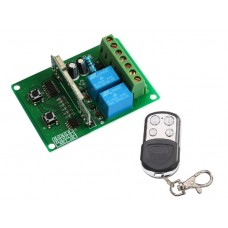2 kanalų relė 12-24VDC 433 Mhz su valdymo pulteliu