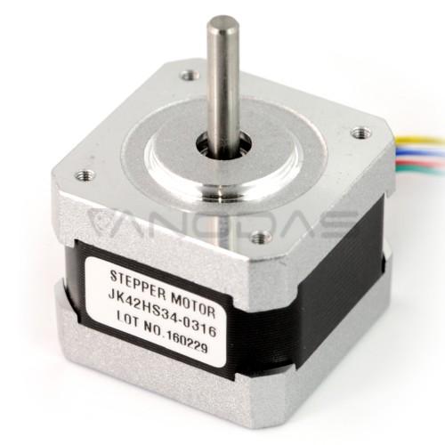 Žingsninis variklis 42HS34-0316 200 žingsnių/aps 12V / 0.31A / 0.15Nm