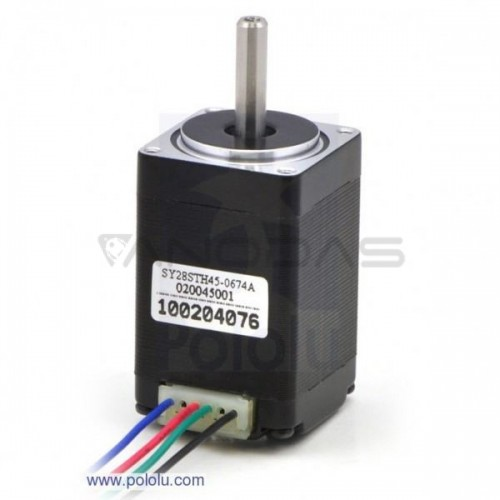 Stepper motor SY28STH45-0674A 200 steps/rev 4.5 V / 0.67 A / 0.095 Nm