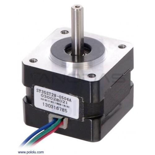 Stepper motor SY35ST28-0504A 200 steps/rev 10V / 0.5A / 0.1Nm