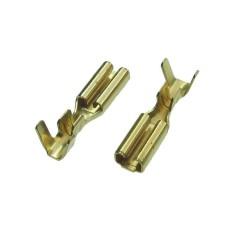 Plokščias neizoliuotas 2.8mm lizdas kabeliui ø0.3-1mm