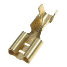 Plokščias neizoliuotas 6.3mm lizdas laidui 1-2.5mm